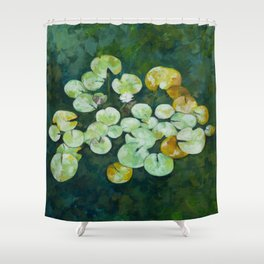 Tranquil lily pond Shower Curtain