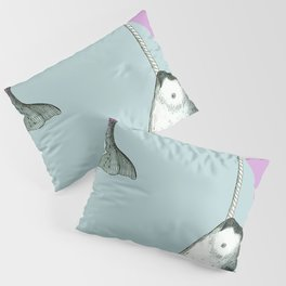 Narwhal Geometric Bright and Colorful Pillow Sham