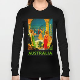 Vintage Sydney Australia Travel Long Sleeve T-shirt