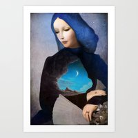 lady Art Prints featuring Lady Midnight by Christian Schloe
