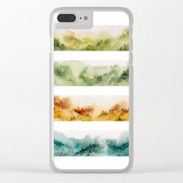 Watercolor seasons Clear iPhone Case