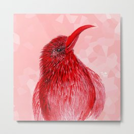 Hello There Red Bird Metal Print