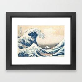 The Great Wave off Kanagawa by Katsushika Hokusai from the series Thirty-six Views of Mount Fuji Framed Art Print