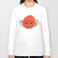 monkey island Long Sleeve T-shirts featuring Monkey by James White