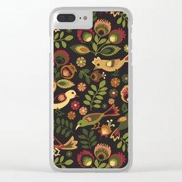 Folk Birds Clear iPhone Case
