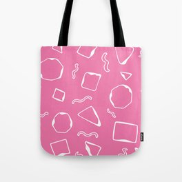 Wiggly - Pink n White Tote Bag