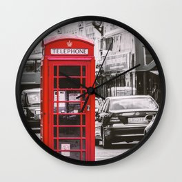 Phony in Red Wall Clock