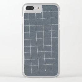 Silver grid Clear iPhone Case