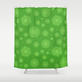 Feathered Mandala Pattern - Grass Shower Curtain