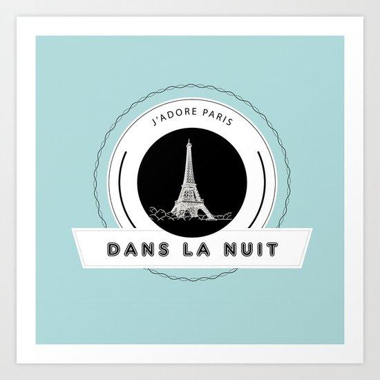 Paris tiffany blue Art Print