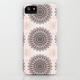 Zen brown mandala pattern iPhone Case