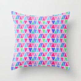 Pretty triangles Throw Pillow