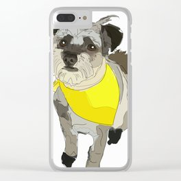 Thor the Rescue Dog Clear iPhone Case