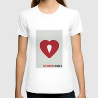 vampire diaries T-shirts featuring The Vampire Diaries - Minimalist by Marisa Passos