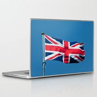 british flag Laptop & iPad Skins featuring Flying the British flag by PICSL8