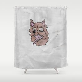 stray dog Shower Curtain