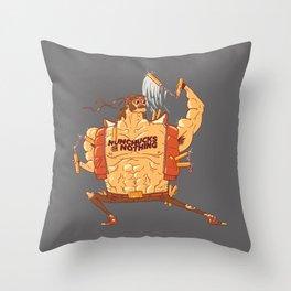 Nunchucks or Nothing! Throw Pillow