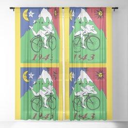 Bicycle Day 1943 Albert Hofmann LSD Sheer Curtain