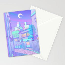 Night in Utopia Stationery Cards