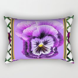 SPRING PURPLE & YELLOW PANSIES  GARDEN Rectangular Pillow