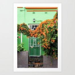 Green Door, Bo Kaap Art Print