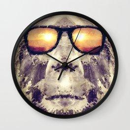 Bigfoot In Shades Wall Clock