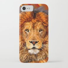 Old Lion Digital Art painting iPhone 4 4s 5 5c 6, pillow case, mugs and tshirt Slim Case iPhone 7