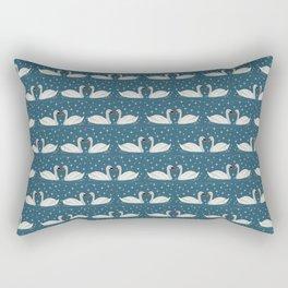 Swans love sparkles // winter sun Rectangular Pillow