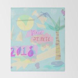 visit st. pete Throw Blanket