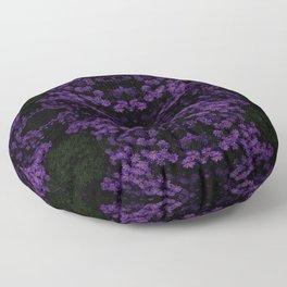 3D Purple Flowers Floor Pillow