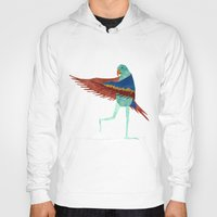 parrot Hoodies featuring Parrot by Jade Young Illustrations