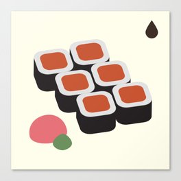 Spicy Tuna Roll Canvas Print