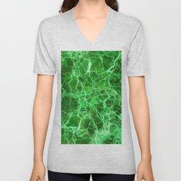 Emerald Green Marble Unisex V-Neck