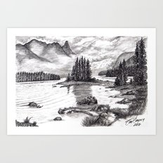 Black and White 3 Art Print