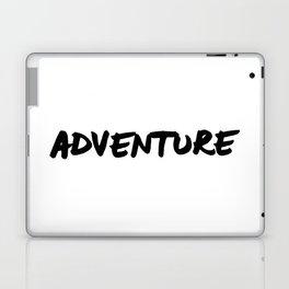 'Adventure' Hand Letter Type Word Black & White Laptop & iPad Skin