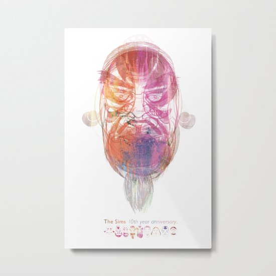 Characteristic Masks Metal Print