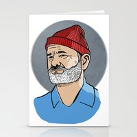 steve zissou Stationery Cards featuring Zissou by Max the Kid