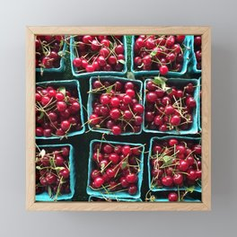 Farmer's Market Cherries Framed Mini Art Print