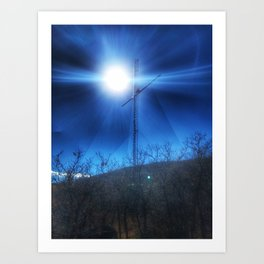 Follow the Signs - Red Mountain, Glenwood Springs, CO Art Print