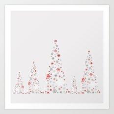 Snowflake Trees Art Print