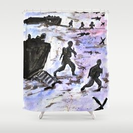 Stepping In Harms Way Shower Curtain