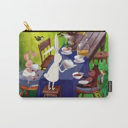 Bunny Tea Party in forest Carry-All Pouch