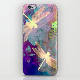 Painting Dragonflies and Orchids A iPhone Skin