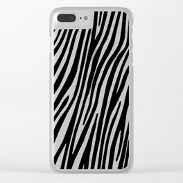 Animal print zebra Clear iPhone Case