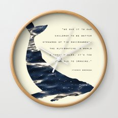 World Without Whales Wall Clock