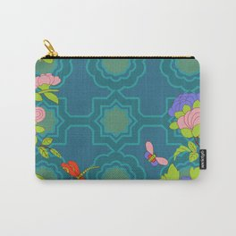 Nonya Peonies and butterfly Carry-All Pouch