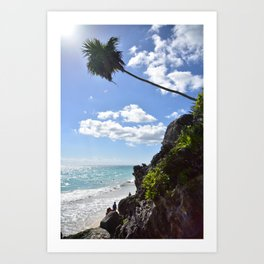 Steps to paradise Art Print