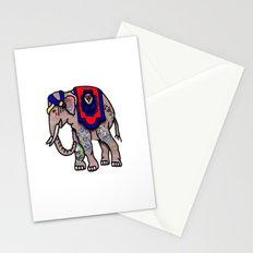 Traditionally Tattooed Elephant  Stationery Cards