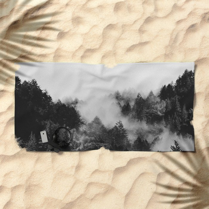 End in fire black & white (requested) Beach Towel