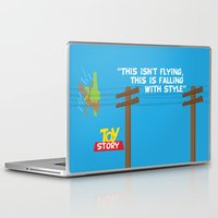 toy story Laptop & iPad Skins featuring Toy Story - Falling With Style by Gary Wood